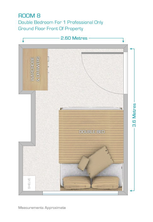 Room 8 Floor Plan Rent A Room Leicester